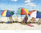 Beach Chairs Prints by Glenn Tunstull