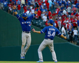 Division Series - Toronto Blue Jays v Texas Rangers - Game Four Photo by Tom Pennington