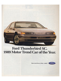 1989Thunderbird Car of the Year Posters
