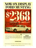 1964 Mustang - Now On Display Poster