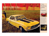 1968 Mustang Turn Yourself On Poster