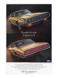 1968 Thunderbird 2 Doors or 4 Prints