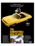1977 Mustang Convertible Kick Posters