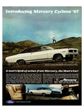 1967 Mercury Cyclone Man's Car Prints