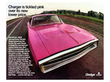 1970 Dodge Charger TickledPink Print