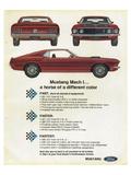 1969 Mustang - Mach 1 Horse Kunstdruck