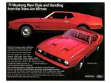 1971 Mustang - Trans-Am Winner Print