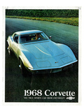 1968 Corvette True Sports Car Prints