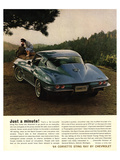 1964 Corvette - Just a Minute Posters