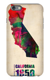 California Watercolor Map iPhone 6s Plus Case by  NaxArt