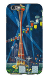 Space Needle Worlds Fair Poster - Seattle, WA iPhone 6 Plus Case by  Lantern Press