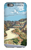Badlands National Park, South Dakota - Road Scene iPhone 6 Plus Case by  Lantern Press