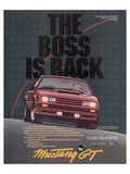 1982 Mustang the Boss is Back Posters