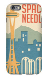 Seattle, Washington - Space Needle Woodblock iPhone 6s Plus Case by  Lantern Press