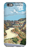 Badlands National Park, South Dakota - Road Scene iPhone 6s Plus Case by  Lantern Press