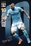 Man City- Aguero 15/16 Plakaty