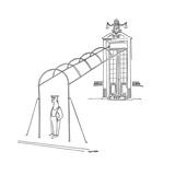 New Yorker Cartoon Regular Giclee Print by Saul Steinberg