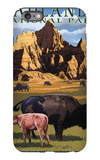 Badlands National Park, South Dakota - Bison Scene iPhone 6 Plus Case by  Lantern Press