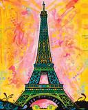 Dean Russo- Eiffel Tower Plakat av Dean Russo