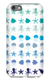Blue Under the Sea iPhone 6 Plus Case by  Avalisa