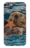 Sea Otter - Paper Mosaic iPhone 6 Plus Case by  Lantern Press
