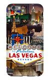 Las Vegas Casinos and Hotels Montage iPhone 6 Plus Case by  Lantern Press