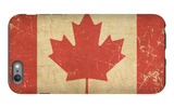 Canadian Aged Flat Flag iPhone 6s Plus Case by  nazlisart