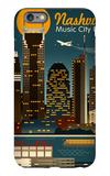 Retro Skyline - Nashville, Tennessee iPhone 6 Plus Case by  Lantern Press