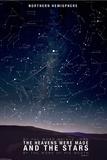 Star Map- Psalm 88:6 - Posterler