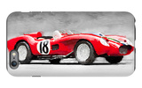 1957 Ferrari Testarossa Watercolor iPhone 6 Plus Case by  NaxArt