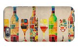 Wine Bottle and Glass Group Geometric iPhone 6 Plus Case by  Lantern Press
