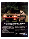 1989 Mustang People Want More Print