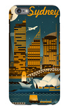 Sydney, Australia - Retro Skyline iPhone 6s Plus Case by  Lantern Press