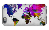 World Watercolor Map 13 iPhone 6s Plus Case by  NaxArt