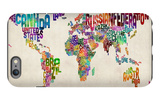 Typographic Text World Map iPhone 6 Plus Case by Michael Tompsett