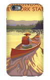 The Adirondacks, New York State - Canoe Scene iPhone 6 Plus Case by  Lantern Press