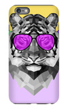 Party Tiger in Glasses iPhone 6 Plus Case by Lisa Kroll