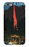 Firefall and Camp Curry - Yosemite National Park, California iPhone 6s Plus Case by  Lantern Press