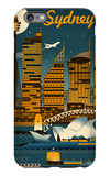Sydney, Australia - Retro Skyline iPhone 6 Plus Case by  Lantern Press