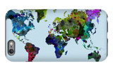 World Watercolor Map 3 iPhone 6s Plus Case by  NaxArt