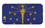 Indiana State Flag iPhone 6 Plus Case by  Lantern Press