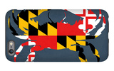 Maryland - Crab Flag - No Text iPhone 6 Plus Case by  Lantern Press