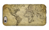 Vintage Map of the World, 1814 iPhone 6s Case by  javarman