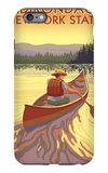 The Adirondacks, New York State - Canoe Scene iPhone 6s Plus Case by  Lantern Press