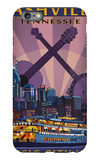 Nashville, Tennessee - Skyline at Night iPhone 6 Plus Case by  Lantern Press