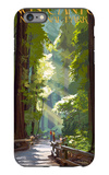 Kings Canyon National Park, California - Pathway and Hikers iPhone 6 Plus Case by  Lantern Press