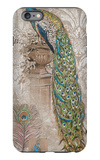 Peacock on Linen 2 iPhone 6 Plus Case by Chad Barrett
