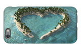Aerial View Of Heart-Shaped Tropical Island iPhone 6 Plus Case by  Mike_Kiev