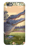 The Everglades National Park, Florida - Alligator Scene iPhone 6 Plus Case by  Lantern Press