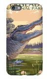 The Everglades National Park, Florida - Alligator Scene iPhone 6s Plus Case by  Lantern Press